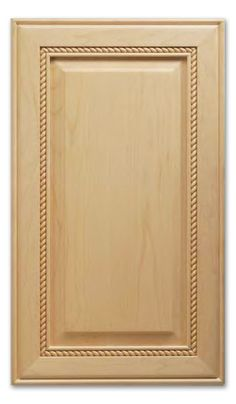 The Nantucket features an understated rope design as a border for the classic raised square panel in the center of the door. Cabinet door shown in Maple. Cabinet door stile is 2 and rail is 2 Minimum width is 8 and minimum height is Cabinet do Redo Kitchen Cabinets, Bath Cabinets, Kitchen Remodel, Cabinet Door Styles, Cabinet Doors, Cabinet Door Replacement, Painting Oak Cabinets, Cherry Cabinets, Master Bath Remodel