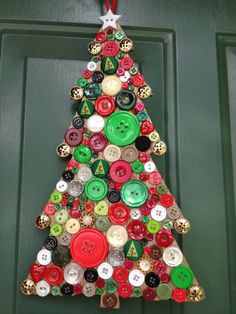 Christmas Decoration Holiday Wreath Button by AWorkofHeartSA