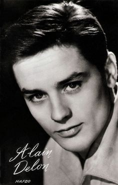 hollywood actor Dutch postcard by Muziekparade, Hilversum, no. In the late and early Alain Delon was the breathtakingly good-looki Hollywood Men, Old Hollywood Stars, Vintage Hollywood, Classic Hollywood, Alain Delon, World Handsome Man, Luchino Visconti, Michelangelo Antonioni, French Films