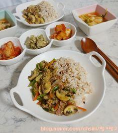 Korean Food, Food Menu, Quick Meals, Food Hacks, Snack Recipes, Food And Drink, Meat, Chicken, Baking