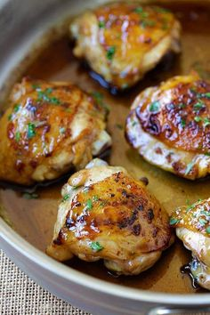 Honey Balsamic Chicken - the easiest skillet chicken with sweet and savory honey balsamic sauce. Homemade chicken dinner is so good with this recipe | rasamalaysia.com