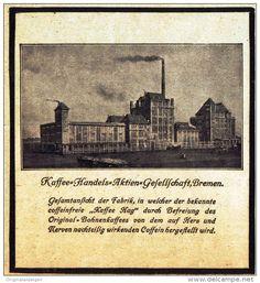Original-Werbung/ Anzeige 1910 - KAFFEE- HANDELS- AKTIEN - GESELLSCHAFT BREMEN…