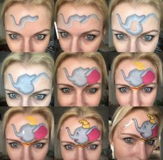 Disney Face Painting, Face Painting Unicorn, Eye Face Painting, Face Paint Makeup, Belly Painting, Makeup Art, Animal Face Paintings, Animal Faces, Face Painting Tutorials