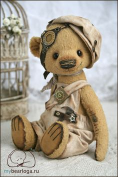 Cute teddy bear EVER. Steampunk brickie. We want them all.