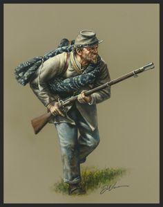 Confederate Infantry 1862 -DAN NANCE