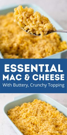 This easy baked mac and cheese is the perfect make ahead side dish or main course. You can prep the casserole up to the day before and just bake it in 15 minutes before you're ready to serve dinner. The perfect ratio of noodle to cheese sauce with crispy buttery breadcrumb topping. YUM. Family Meals, Kids Meals, Easy Meals, Family Recipes, Healthy Meals, Easy Baked Mac And Cheese Recipe, Easy Holiday Recipes, Easy Recipes, Sunday Dinner Recipes