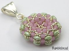 Cantaloupe Pendant Tutorial by BumblebeadCrafts on Etsy