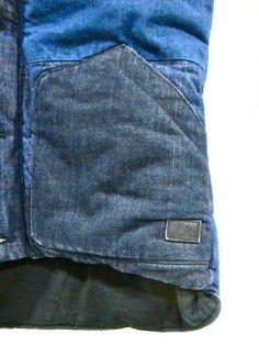 KUYICHI denim patched indigo bodywarmer.