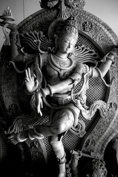 Hindu Cosmos — Shiva as Lord of Dance A statue of a dancing. Hindu, Ancient Indian Architecture, Nataraja, Indian Sculpture, Lord Siva, Statue, Shiva Statue, Dancing Shiva, Hindu Statues