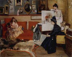 STEVENS, Alfred Belgian (1823-1906)_In the Studio, 1888