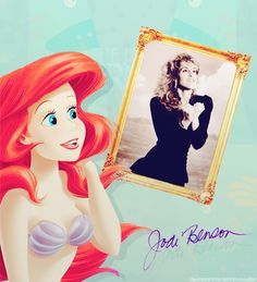 Ariel and her real life voice, Jodi Benson