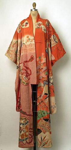 Kimono (Furisode) Date: 20th century Culture: Japanese Medium: silk ~~~AmyLH~~~