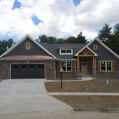 67 ideas house colors exterior craftsman ranch style for 2019 Craftsman Exterior Colors, Craftsman Ranch, Ranch Exterior, Exterior Remodel, Exterior House Colors, Exterior Design, Craftsman Style, Exterior Paint, Craftsman Decor