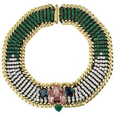 Akong London 24K Gold Plated Green Onyx Necklace ($1,310) ❤ liked on Polyvore featuring jewelry, necklaces, swarovski crystal jewelry, gold plated jewelry, green onyx necklace, 24-karat gold jewelry and green onyx jewelry