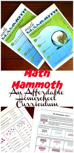 Math Mammoth is an affordable math program that has a wonderful focus on place value. As children work through math problems they learn more about place value through modeling, number lines, and area models. Homeschool Curriculum Reviews, Homeschool Math, Homeschooling Resources, Math Activities For Kids, Math Resources, Counting Activities, Creative Teaching, Teaching Math, Teaching Ideas
