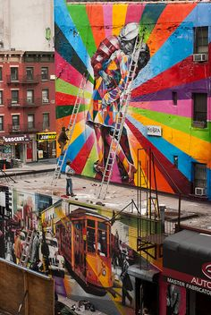 Picture by CasualCapture, via Flickr. I wonder who created this mural situated in Chelsea, New York