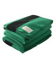 Hudson's Bay Green Wool 6 Point Queen Blanket