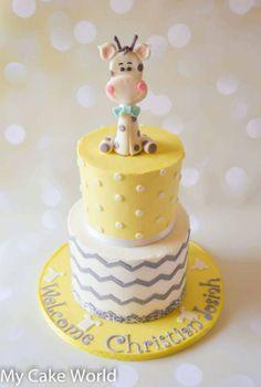 Fondant Baby Giraffe Cake Topper, baby shower, giraffe art, fondant giraffe…
