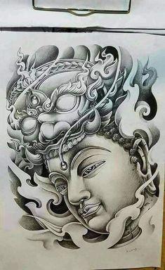 Japanese Tattoo Designs, Japanese Tattoo Art, Japanese Sleeve Tattoos, Asian Tattoos, Leg Tattoos, Body Art Tattoos, Thai Tattoo, Tattoo Sketches, Tattoo Drawings