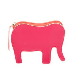 Pink Elephants on Parade! I remember that song from my childhood......and now it comes to life in this cute coin purse ELEPHANT - ELLIE! www.mywalit.com SS2015 #mywalititalianleather #thewalletyouneverforget