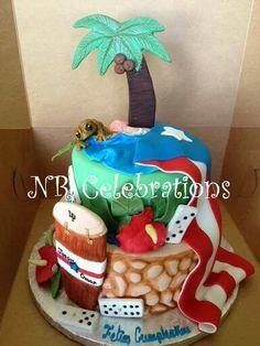 Puerto Rico cake Pretty Cakes, Beautiful Cakes, Amazing Cakes, Just Cakes, Cakes And More, Cupcakes, Cupcake Cakes, Comida Boricua, Puerto Rico Food