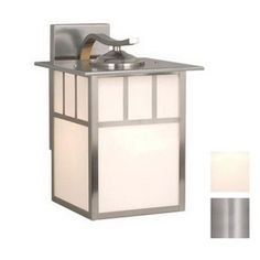 Cascadia Lighting Mission 13-in Stainless Steel Outdoor Wall Light