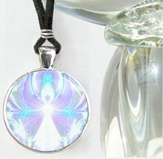 Crown Chakra Jewelry Violet White Necklace Unique Jewelry Reiki Pendant