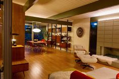 Hanh Bannister - Eichler Home renovation - living