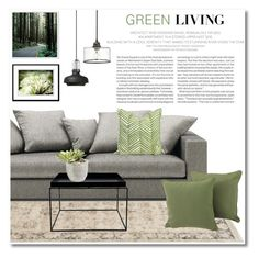 Green Living by galina-gavrailova on Polyvore featuring polyvore, interior, interiors, interior design, home, home decor, interior decorating, HAY, &Tradition, Ethan Allen, Elle and greenday