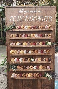 wedding food 25 Wedding Donuts - a fun alternative wedding dessert Ideas - Donut wall Perfect Wedding, Fall Wedding, Our Wedding, Dream Wedding, Wedding Weekend, Wedding Bride, Wedding Draping, April Wedding, Elegant Wedding