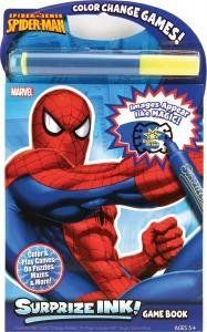 SPIDERMAN SURPRIZE INK by GIDDY UP. $7.99. Images appear like magic. Color, Do puzzles, Mazes and More!. Surprize ink Game book includes 1 surprize ink Color Change Marker, 24- page surprise INK Magic Game book