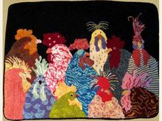 Rug Hooking :: Rug Hooking Patterns & Kits :: Hot Chicks - The Merry Hooker Woolens