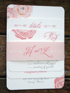 Modern Vintage Wedding Invitation: Rustic and Romantic Shabby Chic-vintage flowers. $4.05, via Etsy.
