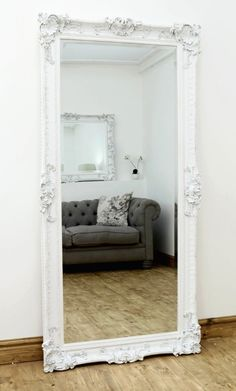 Hampshire White Ornate Full Length Mirror 66 x 32 Full Length Mirror In Bedroom, Full Body Mirror, Full Length Mirrors, Big Mirrors, Big Bedroom Mirror, Vintage Mirrors, Full Length Mirror White Frame, Full Length Mirror Vintage, Full Length Mirror Design