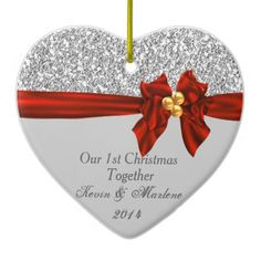 Elegant First Christmas Together Ornament Bling