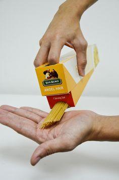 San Remo Pasta Packaging Design (2011) by Ian Lim, via Behance