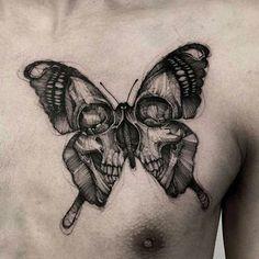 Skull Butterfly Tattoo - Skull Tattoos For Men: Best Skull Tattoo Ideas and Cool. - Skull Butterfly Tattoo – Skull Tattoos For Men: Best Skull Tattoo Ideas and Cool Designs For Guys - Pretty Skull Tattoos, Skull Butterfly Tattoo, Butterfly Tattoo Cover Up, Butterfly Tattoo Meaning, Butterfly Tattoo Designs, Skull Tattoo Design, Tattoo Designs Men, Skull Hand Tattoo, Butterfly Drawing Images