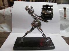 Art Deco Figural Ronson Ballerina Lighter 1930's Original & Working Condition