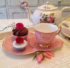 Vintage Royal Albert Gossamer Pink Teacup and by VerasTreasures, £25.00