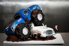 Tons of Monster Truck cakes