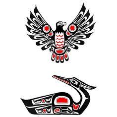 Tribal Tattoo History | Tribal bird haida tattoo