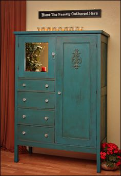 teal antique | wardrobe | The Ordinary Made Extraordinary