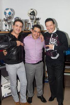 Eu com Nuno Ferreira e Nelo Silva...