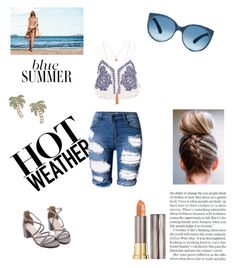 """Untitled #125"" by thesilverloutos on Polyvore featuring Topshop, River Island, Kate Spade and Urban Decay"