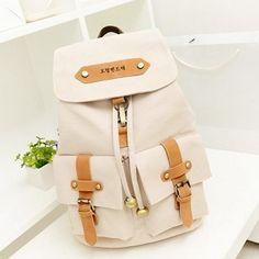 Fashion Cute Lady Girls Versatile Vintage Canvas Satchel Backpack Shoulder School Bag For Teenager Girl Women 88