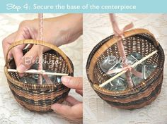 Secure the centerpiece's base