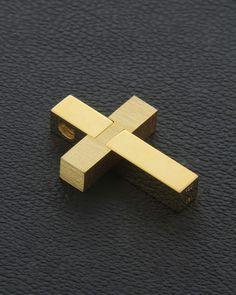 Χειροποίητος Σταυρός χρυσός Κ18 | eleftheriouonline.gr