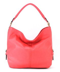 Look what I found on #zulily! Coral Pink Madison Hobo by Robert Matthew #zulilyfinds