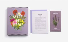 Seeds of Virtue: Notecard & Seed Set - Flowers - Home & Garden