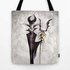 Maleficent Tote Bag by Jena Sinclair - $22.00